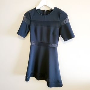 Topshop mesh skater dress